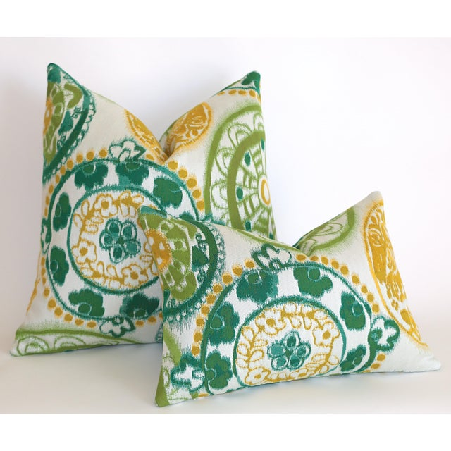 Offered is one Bright & Retro Suzani pillow cover, made from genuine Sunbrella fabric. Size 12x18 (Lumbar size, great for...
