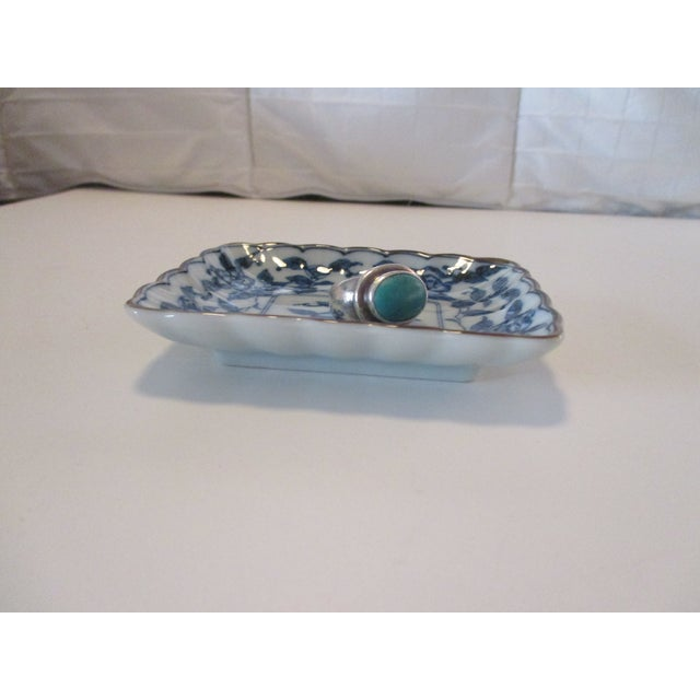 Chinese Export Trinket Dish in Blue and White For Sale - Image 4 of 6