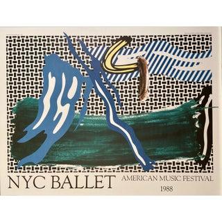 Roy Lichtenstein NYC Ballet American Music Festival, 1988 Poster For Sale