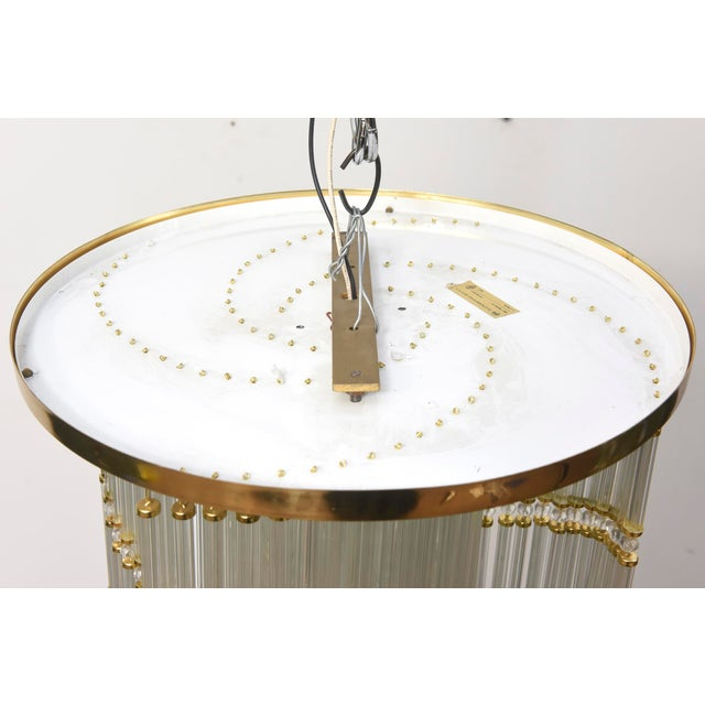 Modern Czech Spiral Crystal Ceiling Fixture For Sale - Image 3 of 5