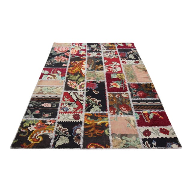 Vintage Turkish Besarabian Patchwork Kilim Rug - 5′6″ × 8′2″ - Image 1 of 6