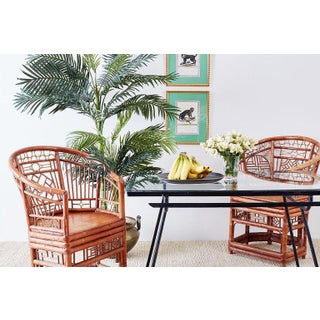 Set of Four Brighton Pavillion Style Bamboo Armchairs Preview