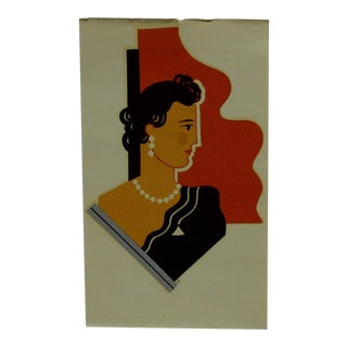 Meyercord Co. Chicago The Lady Decal / Wall Decoration For Sale