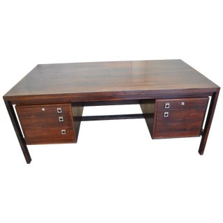 Midcentury Danish Rosewood Executive Desk by Arne Vodder for Sibast For Sale