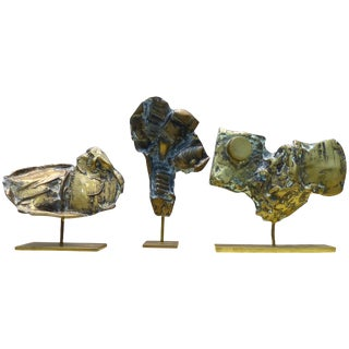Cacipore Torres Brutalist Bronze Sculptures, Brazil, 1935 - Set of 3 For Sale