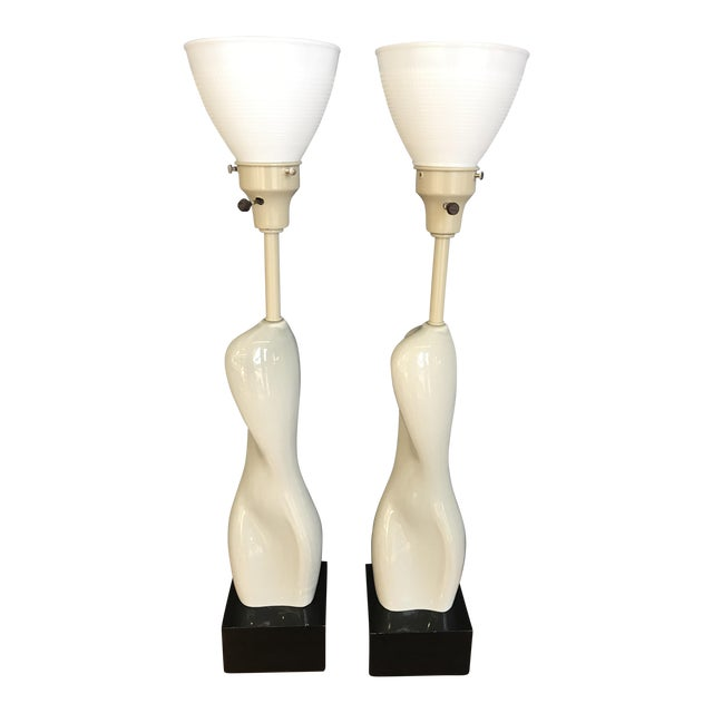 Russell Wright Nude Form Lamps - A Pair For Sale