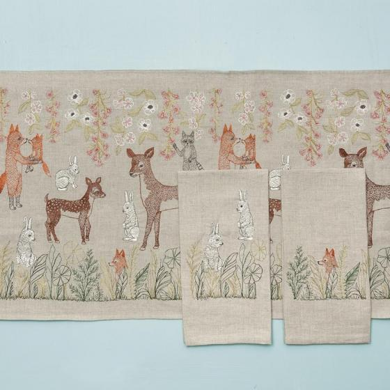 Contemporary Fox Meadow Tea Towel For Sale - Image 3 of 7