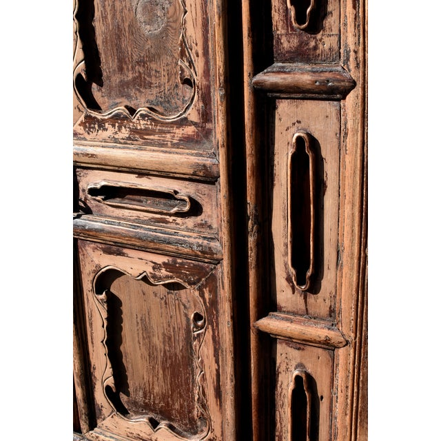 Brown 19th Century Antique Rustic Northern Chinese Cabinet For Sale - Image 8 of 13