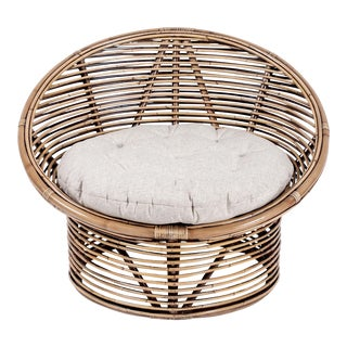 Boho Egg Chair, Camel, Rattan For Sale