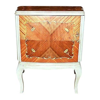 Louis XV Inlaid Night Stand or End Table For Sale