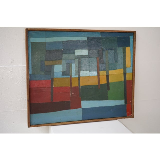 Abstract Mid-Century Abstract Painting For Sale - Image 3 of 7