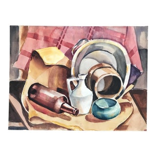 Vintage Mid-Century Marty Martinez Still Life Painting For Sale