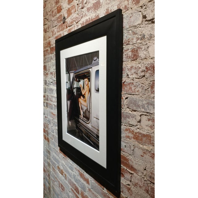 """Glass """"Paris Hilton Nude With Tinkerbell"""" Original Photograph, Signed For Sale - Image 7 of 9"""