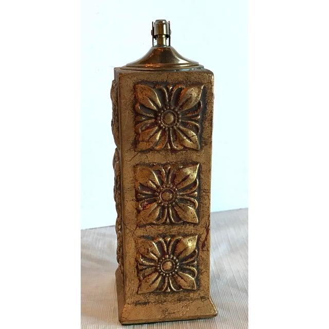 Italian Florentine Gilt Carved Wood Table Lighter For Sale - Image 4 of 8