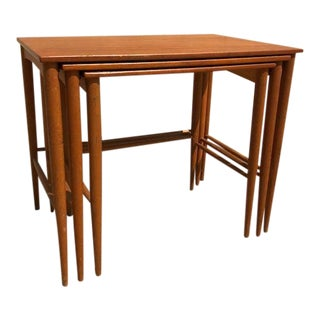 DUX Mid-Century Swedish Teak Nesting Tables - Set of 3