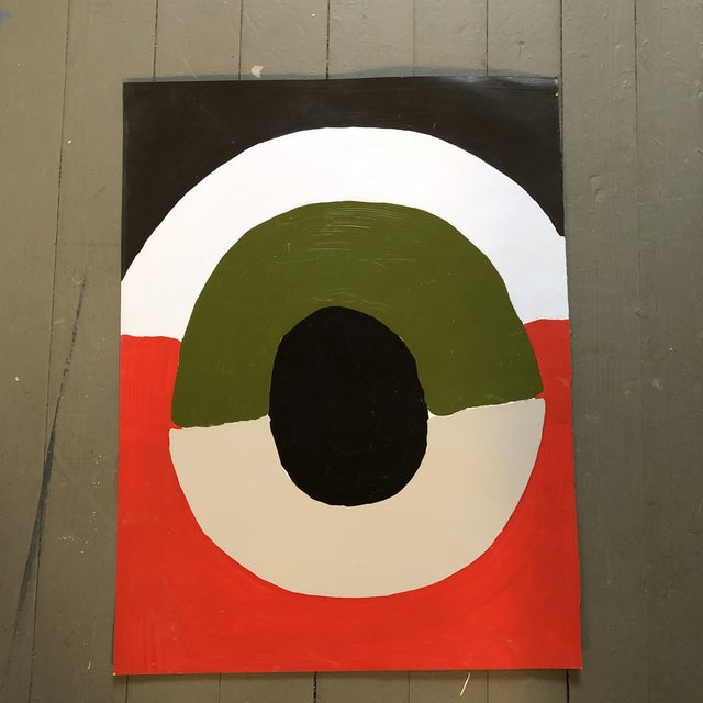1970s Original Vintage Abstract Robert Cooke Painting Mid Century For Sale - Image 5 of 5