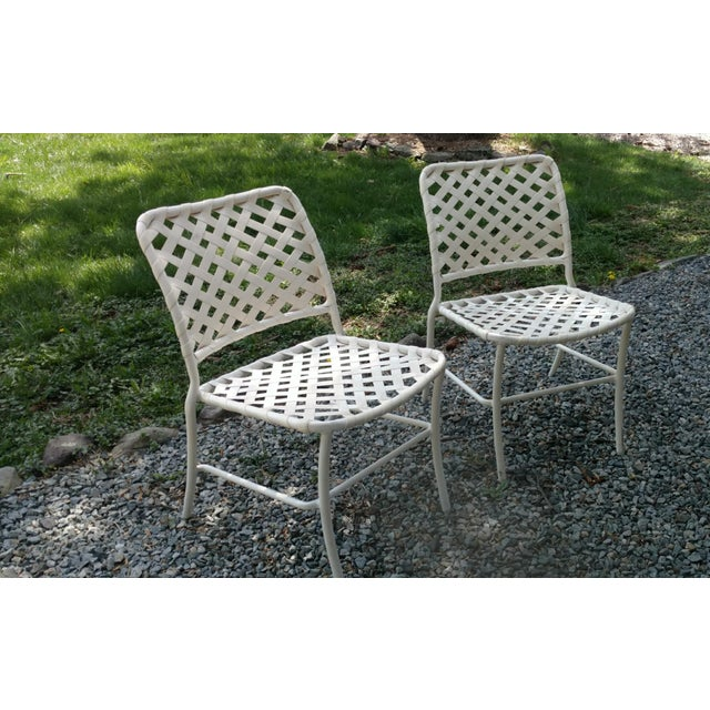 Tropitone (Brown and Jordan style 1960s -70s) outdoor side or dinning chairs. petite profile allows you to get more seats...