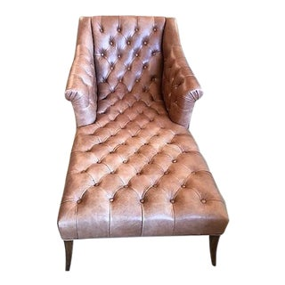 Jett Leather Chaise For Sale