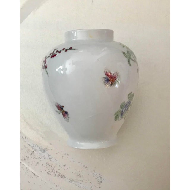 Beautiful delicate porcelain vase with handpainted cherry blossom tree and phoenixdecoartion. Pretty with or without...