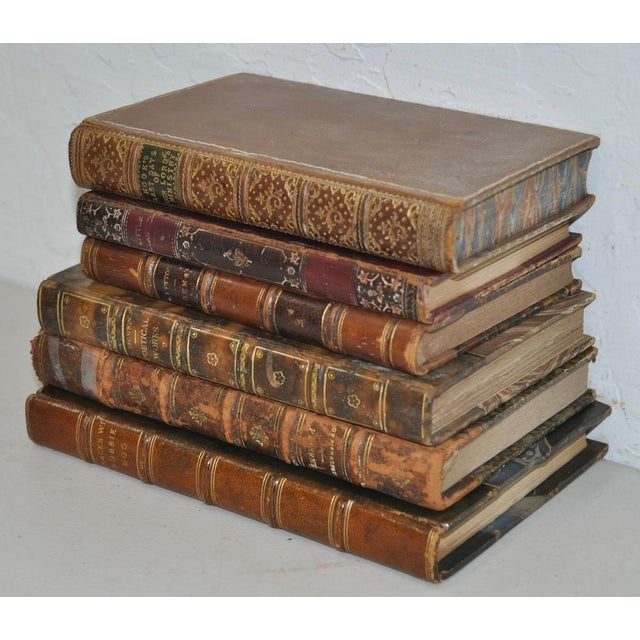 Antique Leather Bound Books - Set of 6 - Image 2 of 7