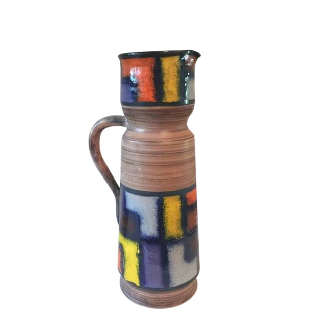 Modernist Fratelli Fanciullacci Mid-Century Ceramic Pitcher - Image 1 of 5