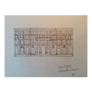 Kent Hall at Columbia University, New York Architectural Rendering, 1984 For Sale