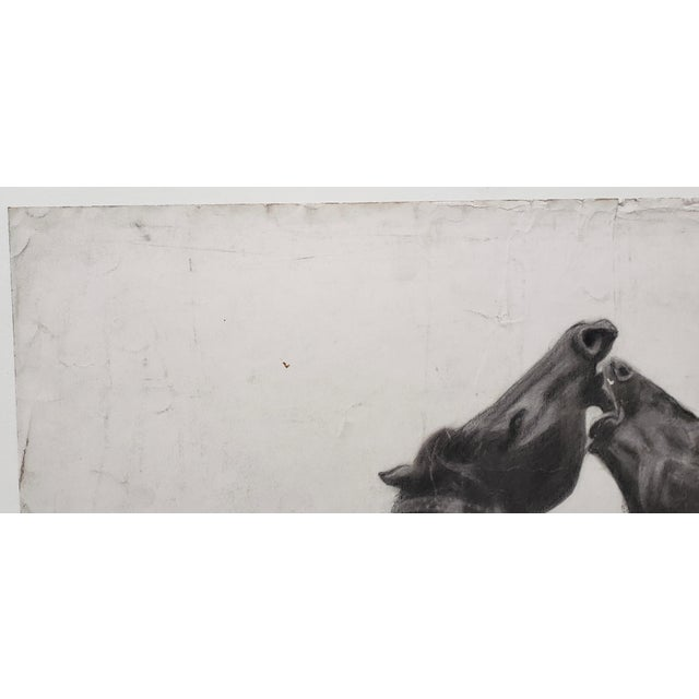 """""""The Challenger"""" Original Charcoal on Paper Mid 20th Century For Sale In San Francisco - Image 6 of 10"""