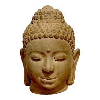 Antique Ceramic Buddha Head Statue For Sale