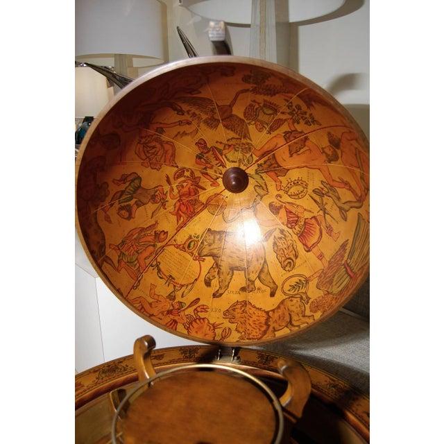 Italian Italian Fruitwood Globe Bar For Sale - Image 3 of 3