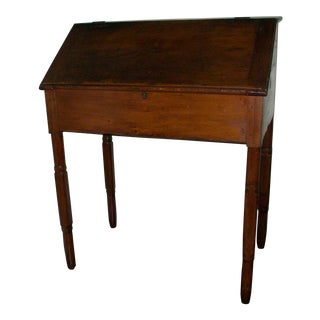 Early 1800s Antique Slant Top Schoolmasters Desk