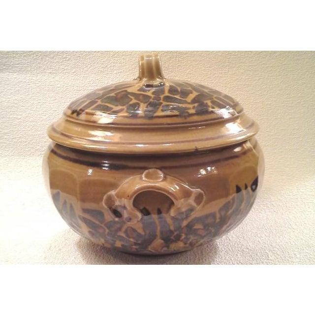 Boho Chic Studio Pottery Ceramic Casserole For Sale - Image 3 of 3