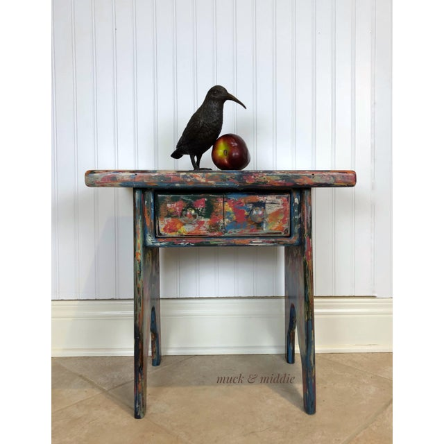 This industrial bohemian accent table is funky, whimsical and a little bit quirky. It will add character and a much needed...