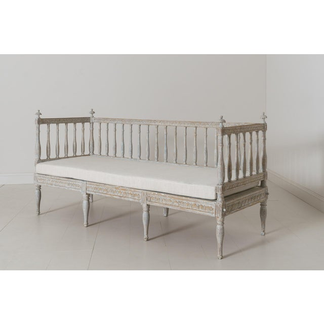 19th Century Swedish Gustavian Period Sofa Bench For Sale - Image 9 of 12