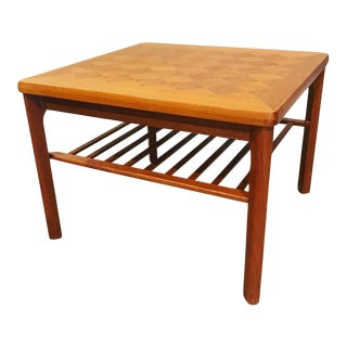 1960s Mid-Century Modern Side Table With Magazine Shelf