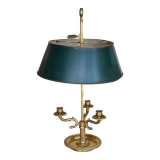 1950s Gilded Bronze Boulliotte Lamp For Sale