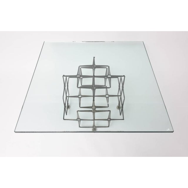 """The base is composed of masonry nails in a satin-color and finish. Note: The glass is 3/4"""" (.75"""") in thickness and 36""""..."""