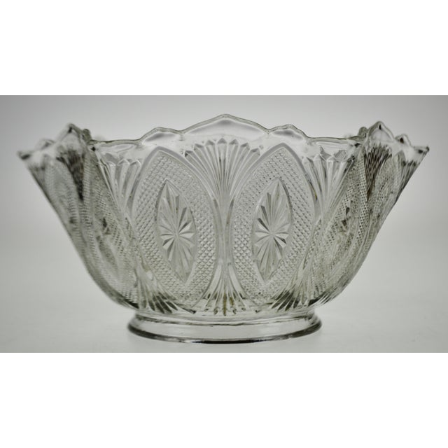 Victorian Style Pressed Glass Gas Light Shade Condition consistent with age and history. Some flea bite chips to rim...