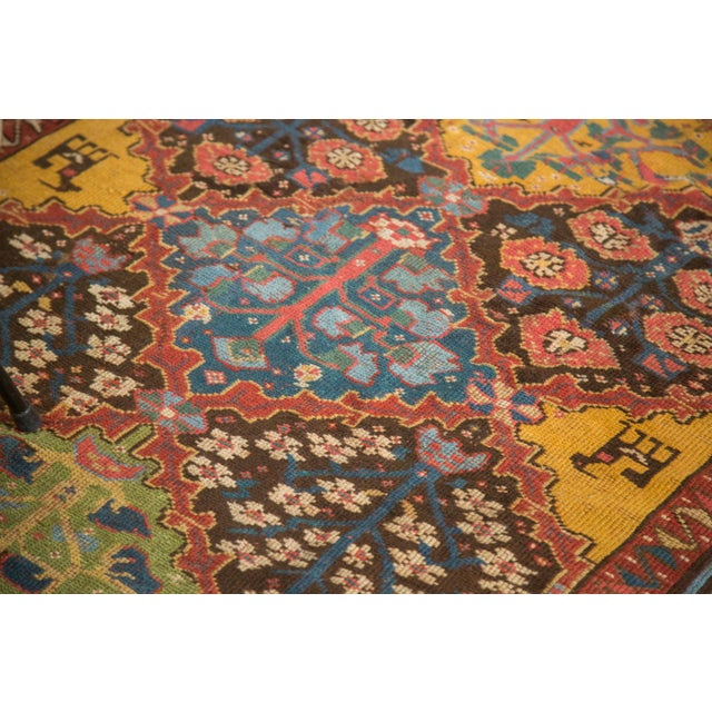 "Vintage Colorful Turkish Melas Rug - 4'6"" X 7' - Image 8 of 9"