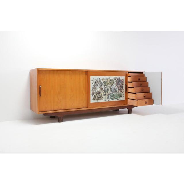 Modernist Sideboard With Perignem Ceramic and Macassar Details For Sale - Image 6 of 12