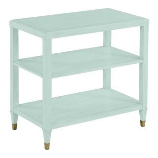 Sasha Tier Table, Palladian Blue For Sale