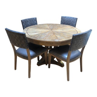 Rustic Jupe Table Set- 5 Pieces For Sale