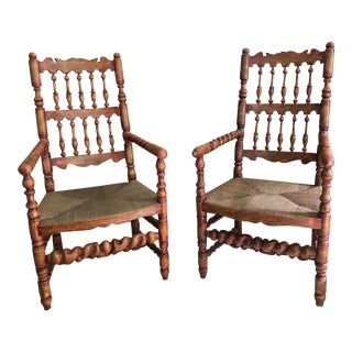 Charles Pollock Fireside Pull Up Chairs - A Pair For Sale