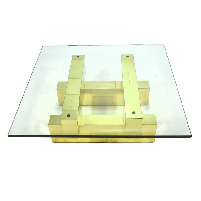 Gold Paul Evans Cityscape Coffee Table by Directional For Sale - Image 8 of 11