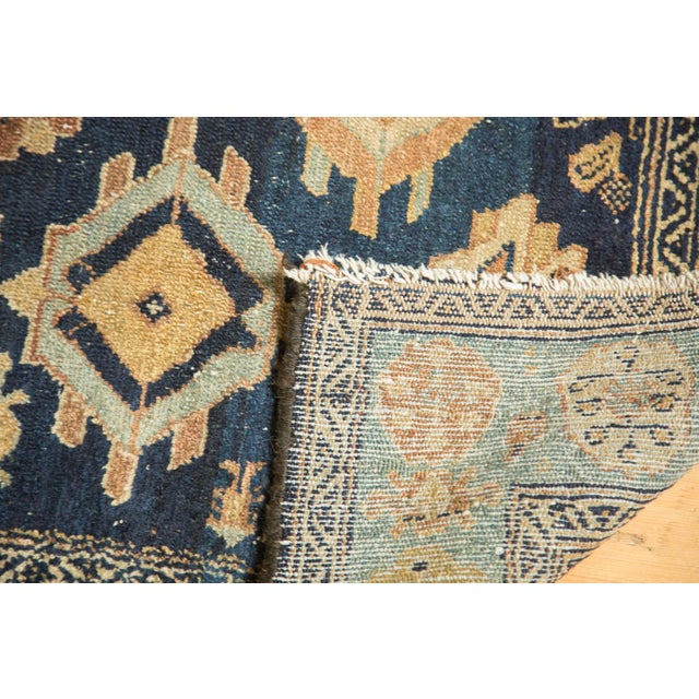 "Blue Antique Malayer Rug Runner - 3'8"" x 6'10"" For Sale - Image 8 of 10"