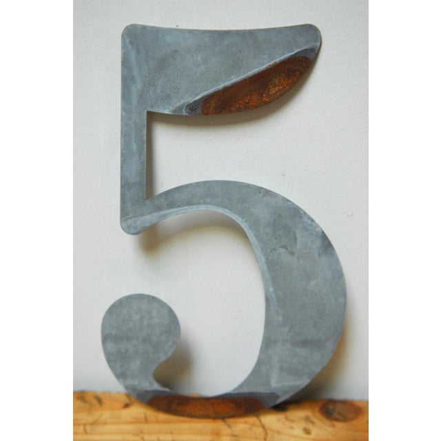 Metal Metal Numbers - Set of 10 For Sale - Image 7 of 11