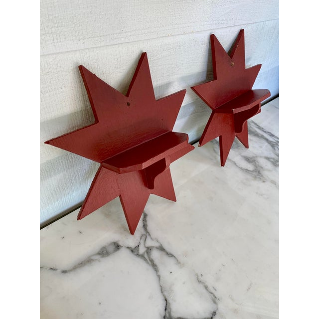 Antique Farmhouse Star Wall Brackets - a Pair For Sale - Image 4 of 8
