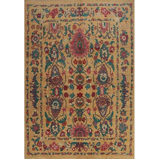 """Traditional Handwoven Turkish Oushak Rug - 11'3""""x16'3"""" For Sale"""