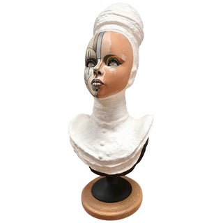 Vintage Bust of a Young Women Signed David Gilmore, Usa, 2019 For Sale