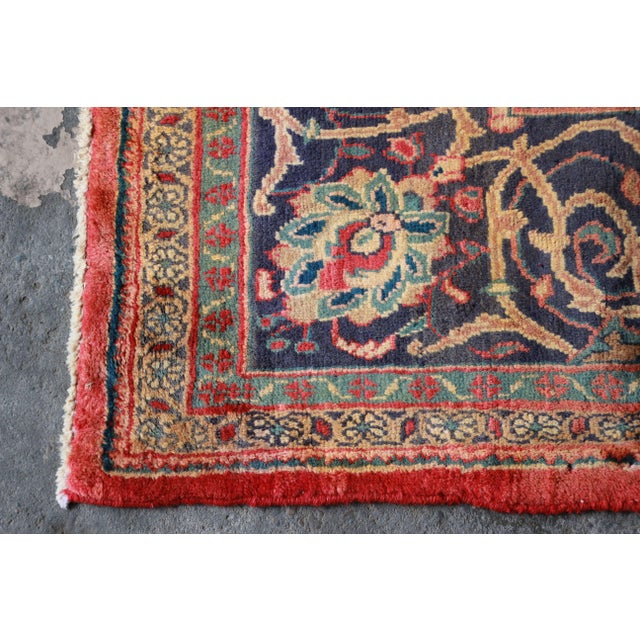 Vintage Hand-Woven Persian Rug - 7′4″ × 8′12″ - Image 7 of 9