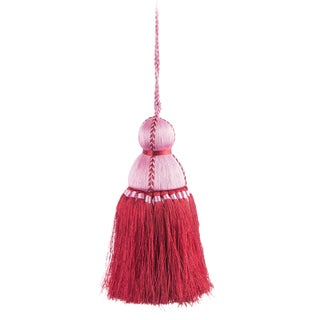 Pyar & Co. Trellis Home Tassel, Pink and Red, Medium For Sale